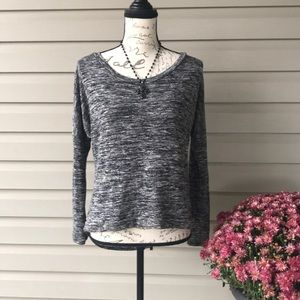 Tops - Black Casual Shirt with Sheer Back